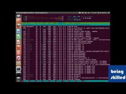Monitoring Linux based Operating Systems using htop / System Monitor ( Ubuntu )