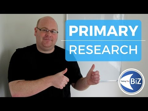 A level Business Revision - Primary Market Research