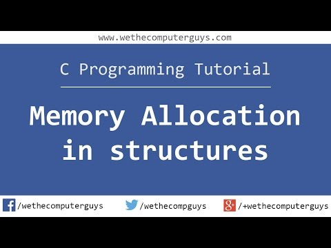 C Programming Language Tutorial (Advanced) - Memory Allocation in Structures thumbnail