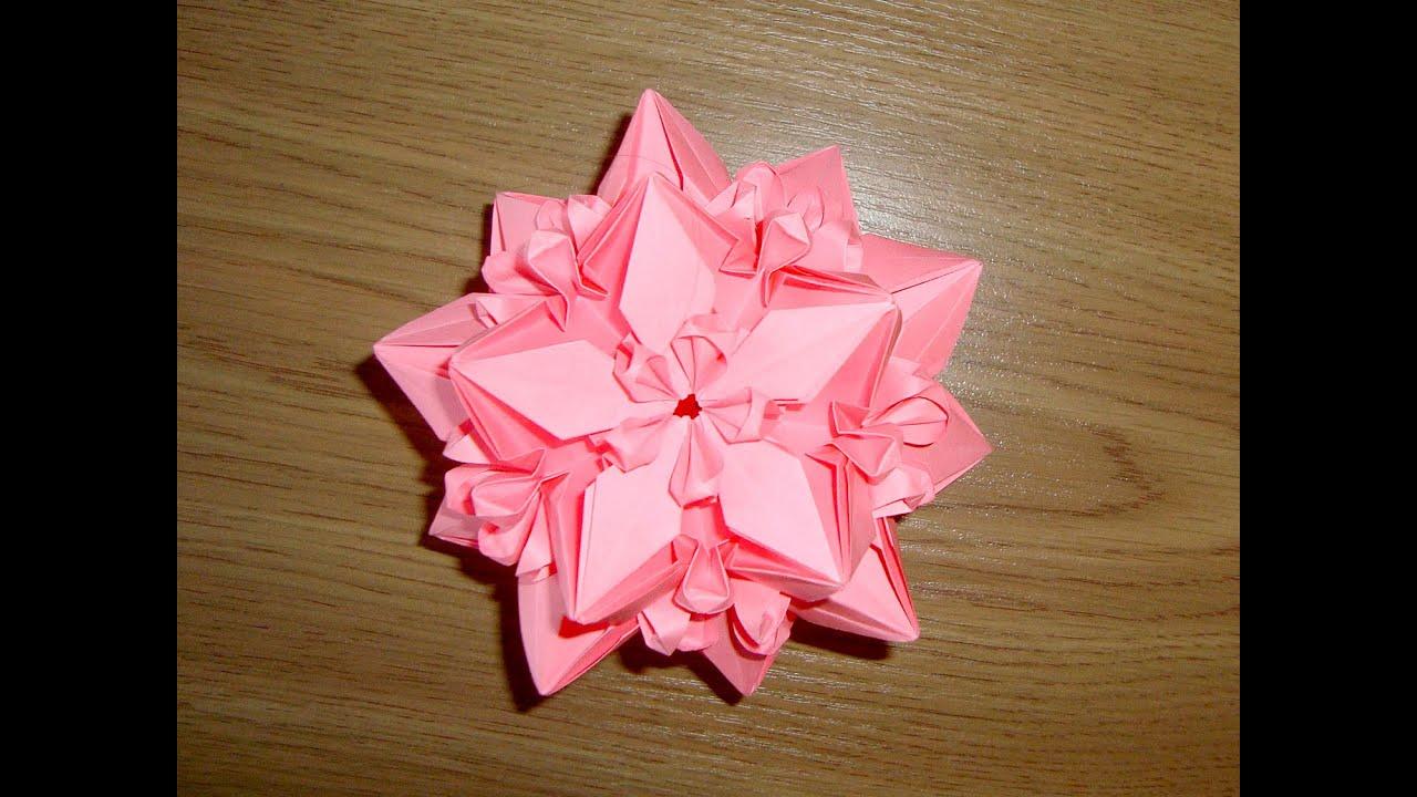 оригами кусудама простая схема