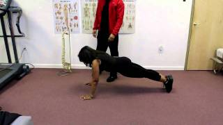 60 year old woman getting it in with pushups