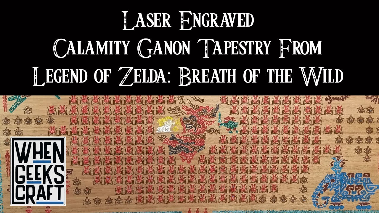 Laser Engraved Calamity Ganon Tapestry From Legend Of Zelda Breath Of The Wild