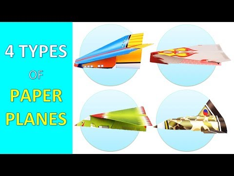 4 Types of Paper Airplanes ✈ DIY Fun Toys for Babies, Kids and Children 💕 Paper Craft