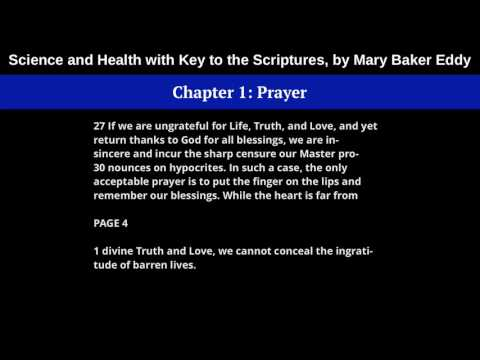 Chapter 1: Prayer - Science and Health with Key to the Scriptures, by Mary Baker Eddy