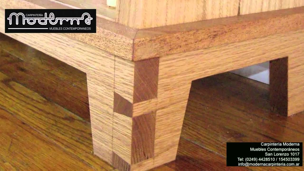Carpinteria moderna muebles contemporaneos youtube for Proyectos de muebles de madera pdf