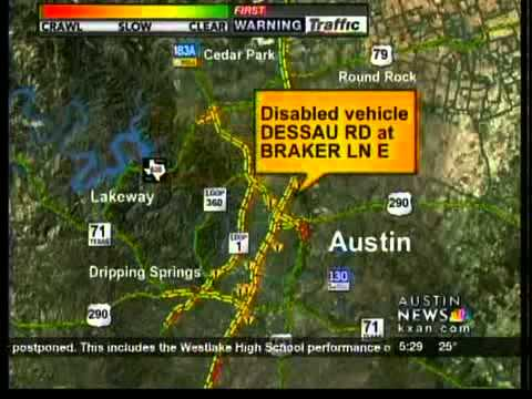 Kxan Traffic Map.Traffic In Snow Youtube