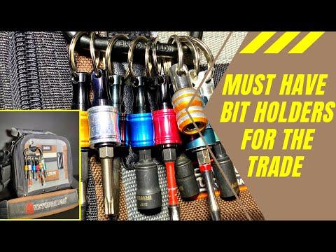 Hex shank bit holder key ring, essential for trades