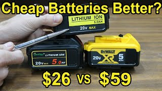 Are Cheap Power Tool Batteries better than DeWalt 20V OEM Lithiums?  Let's find out!