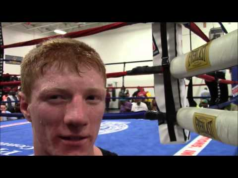2015 New Jersey Golden Gloves, post-fight interview with Garrett Dugan after his KO win, Boxing