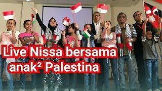 Atuna Toufuli Nissa Sabyan Bersama anak² Pengungsian Palestina di Jordan