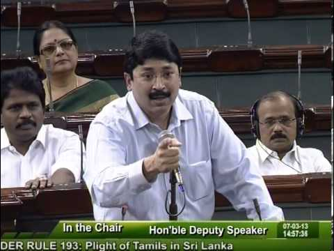 Dayanidhi Maran Appealing Speech in The Parliament on Sri Lankan Tamils Issue.