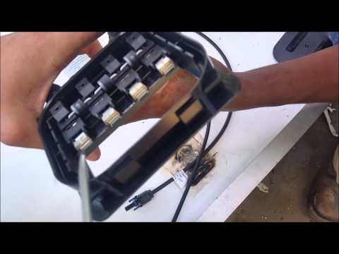 How to replace Solar Junction Box Repairing lightning damages