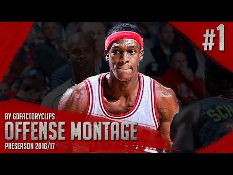 Rajon Rondo Preseason Offense Highlights 2016/2017 - Chicago Bulls Debut!