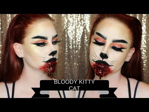 Easy Bloody Kitty Cat Makeup Tutorial
