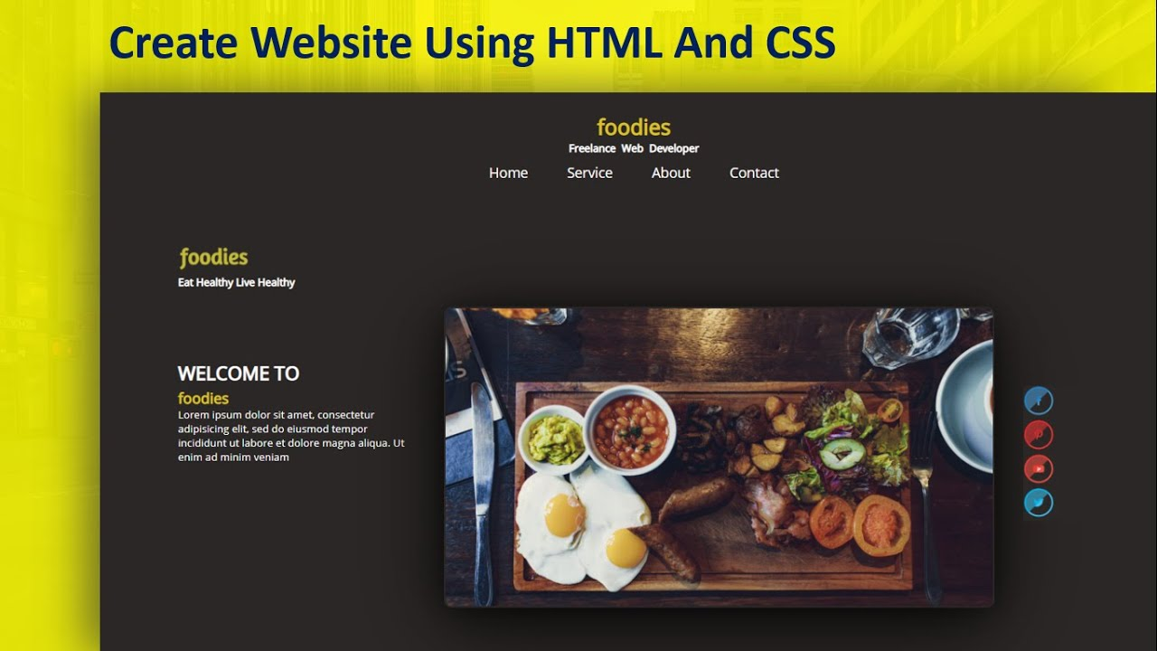 Website Step By Step Using HTML & CSS