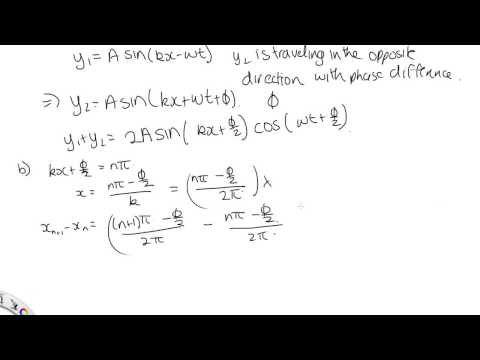 Solution to problem with waves with phase difference Phi
