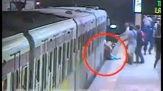 Mujer es arrastrada por el metro de Roma