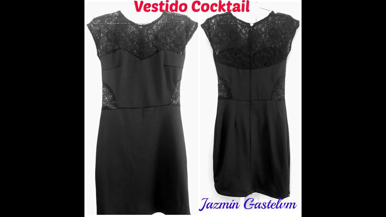 e8332b529 Como Hacer Un Vestido De Cocktail -Intermedio- How To Make a Cocktail dress