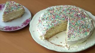 """Дети готовят торт. Рецепт от Вани и Насти. Как быстро приготовить торт."""""""