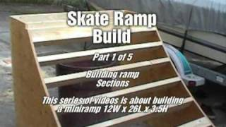 Skateboard Miniramp Build Video Part 1 Of 5 Ramp Sections