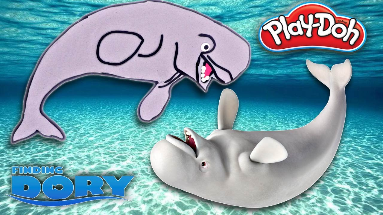 how to make bailey the beluga whale from disney finding dory w
