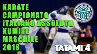 Karate Campionato Assoluto Kumite Maschile 2018 - Tatami 4