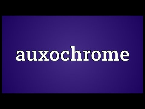 Auxochrome Meaning