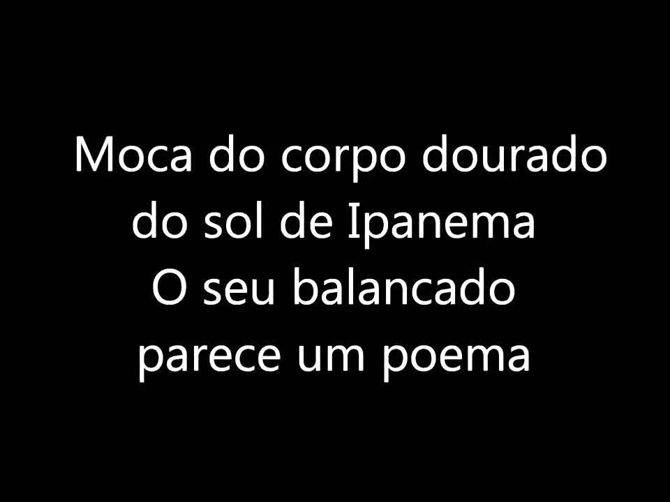 Lyric ipanema lyrics : Frank Sinatra ft Antonio Carlos Jobim The Girl From Ipanema lyrics ...