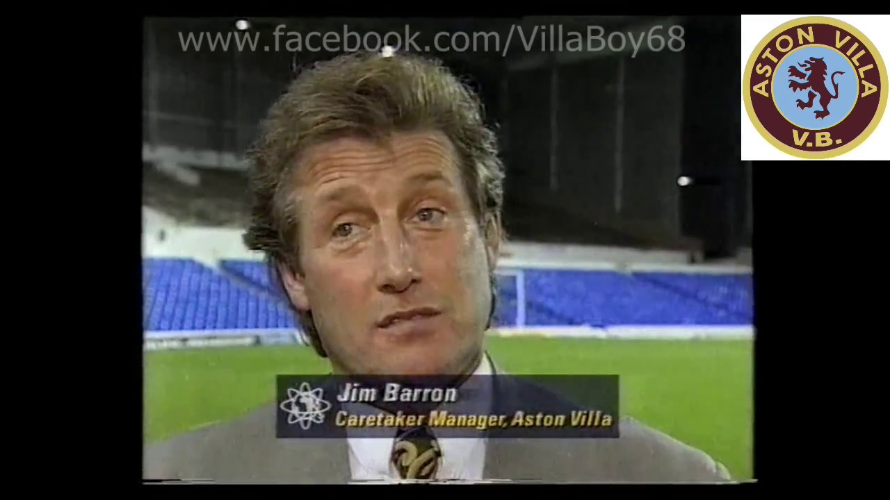Tottenham Hotspur 3 Aston Villa 4 Fa Carling Premiership 19th Nov 1994 Youtube