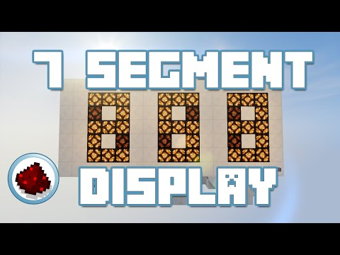 Minecraft 7 Segment Display Redstone Tutorial Youtube