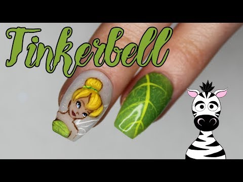 3D Tinkerbell Acrylic Nail Art Tutorial | Disney Princess Series thumbnail