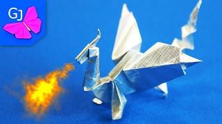 Оригами из бумаги Дракон