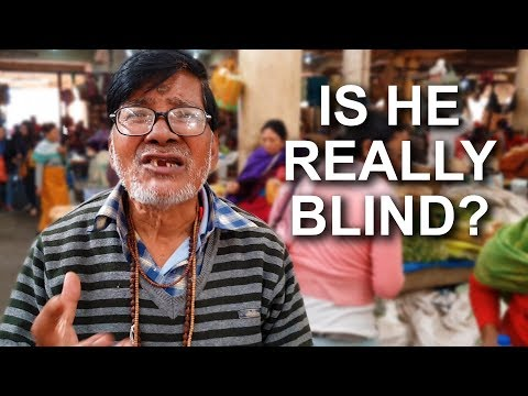 """Lying """"Blind"""" Scammer in India (How to Avoid Sympathy Scams!)"""