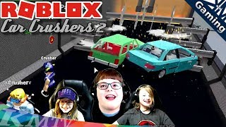 Multiplayer Roblox Car Crushers 2 | Racing Cars, Smashing, & Escaping Energy Core Explosion!