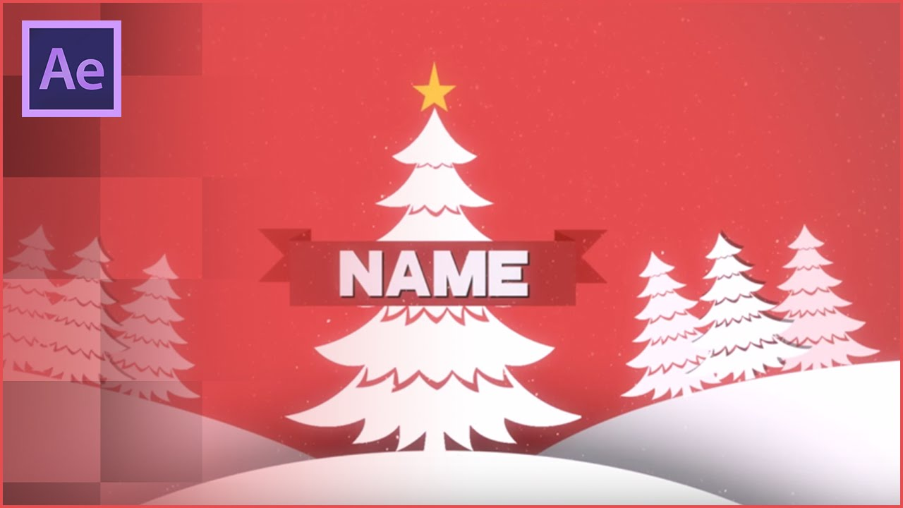 Christmas After Effects 2D Intro Template   FREE DOWNLOAD  Christmas Template Free