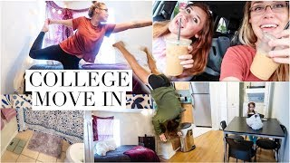 COLLEGE MOVE IN VLOG 2018 | DECORATING COLLEGE APARTMENT / SHOP WITH US