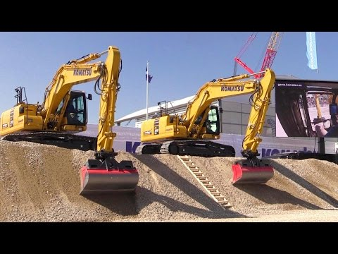 Komatsu Intelligent Machine Control System Demo @ Bauma 2016
