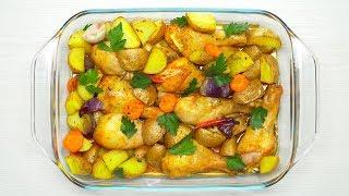 Запеченные куриные ножки с картофелем. Рецепт от Всегда Вкусно!
