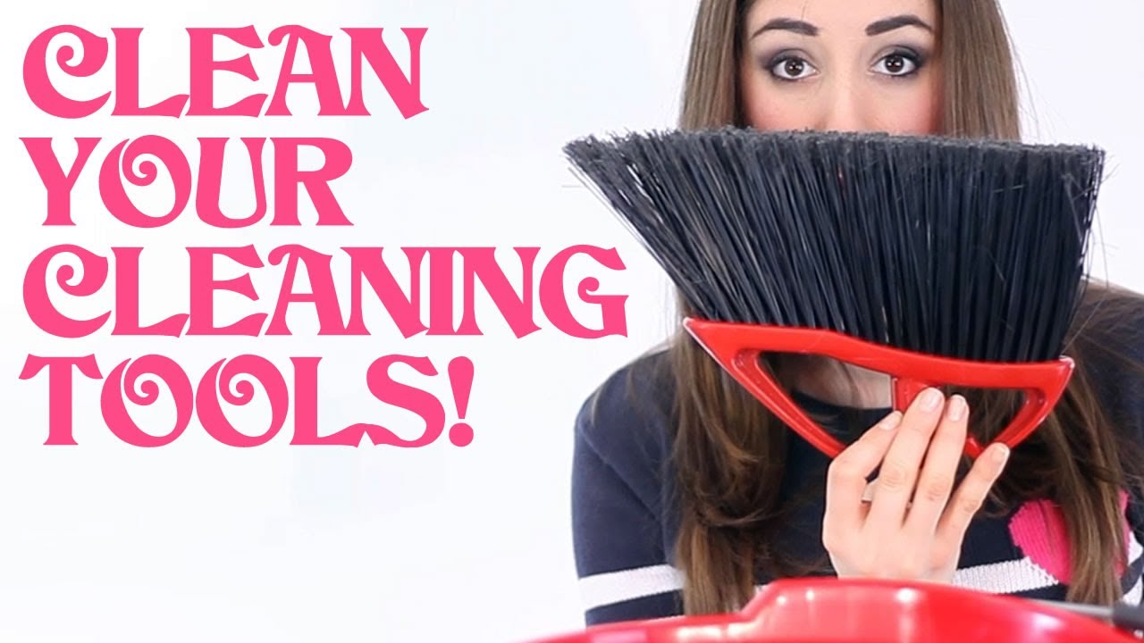 How To Clean Your Cleaning Tools! Home Cleaning Ideas That