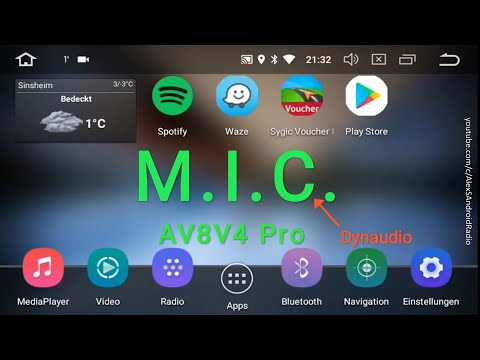 M.I.C. AV8V4 Pro Android 8 Oreo Radio VW Skoda Seat Update siehe Beschreibung