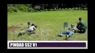 Indonesian Airsofter shooting PINDAD SS2 with YONIF 303-SSM Garut