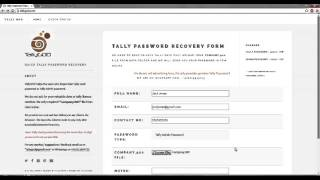 Tally Password Recovery with TallyGOD