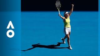 Jana Fett v Caroline Wozniacki match highlights (2R)   Australian Open 2018