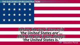 Reconstruction Period: Goals, Successes and Failures