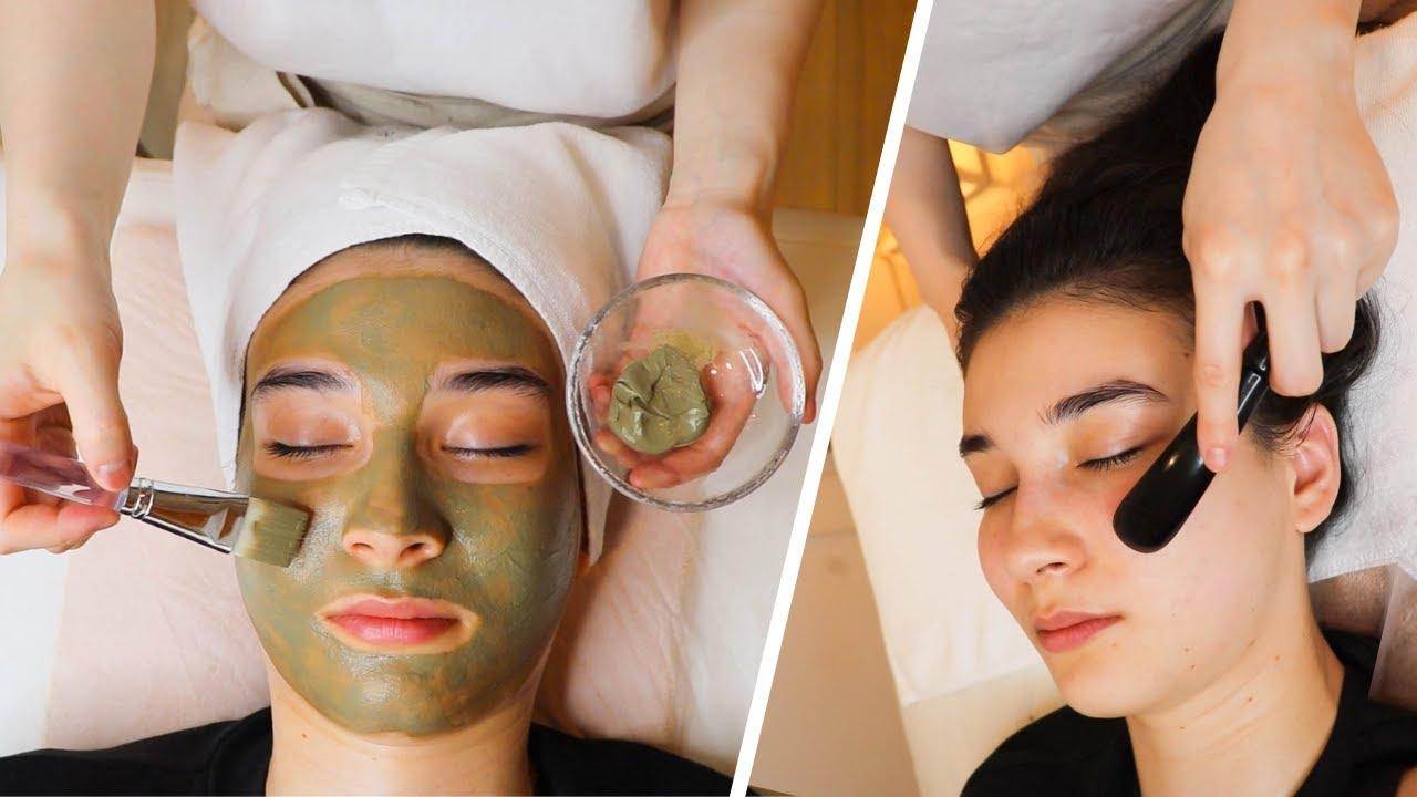 ASMR Ancient Chinese Gua sha face massage in Japan, Soft Spoken