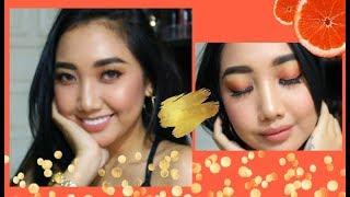 Simple & Easy Burnt Orange Makeup Tutorial    FINGKANSEPTIANI