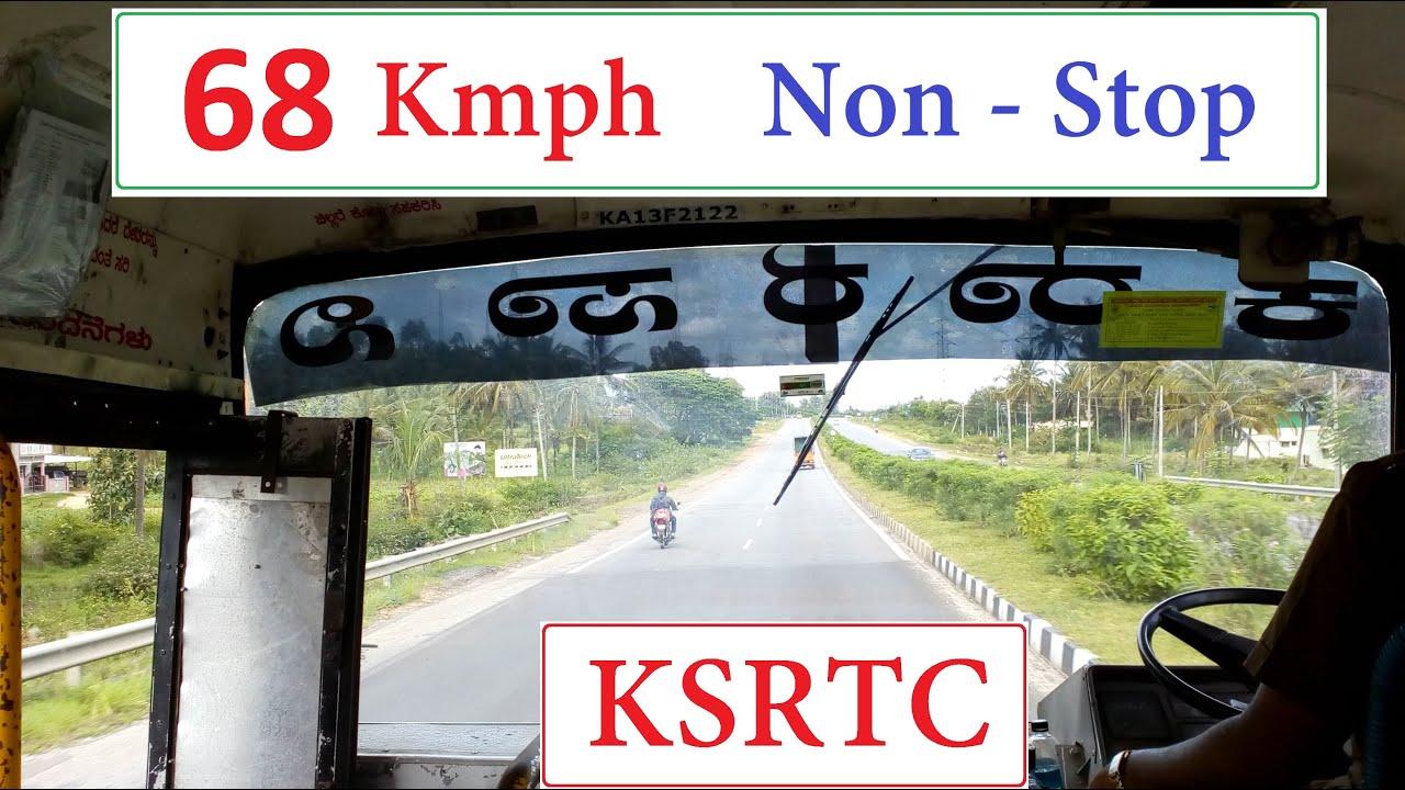 Non-Stop Hassan - Bengaluru Highway Journey in KSRTC