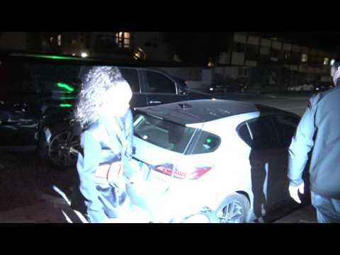Rihanna arrives to Giorgio Baldi in LA!