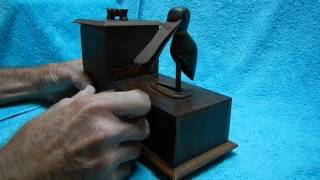 Crazy Duck Antique Mechanical Cigarette Dispenser Handmade By Uncle Harry Ooops!