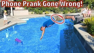 Phone in the Swimming Pool Prank on My Mom! (Prank Gone Wrong)